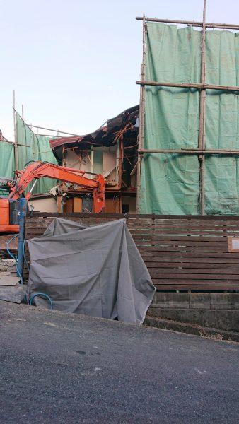 西宮市苦楽園 木造家屋解体4日目