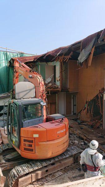 西宮市苦楽園 木造家屋解体5日目