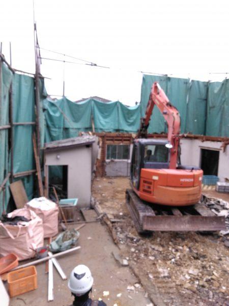 西宮市苦楽園 木造家屋解体8日目