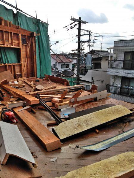 東大阪市末広町 木造解体6日目