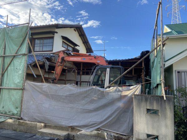 尼崎市木造2階解体工事